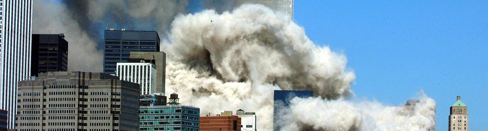 Die einstürzenden Türme des WTC