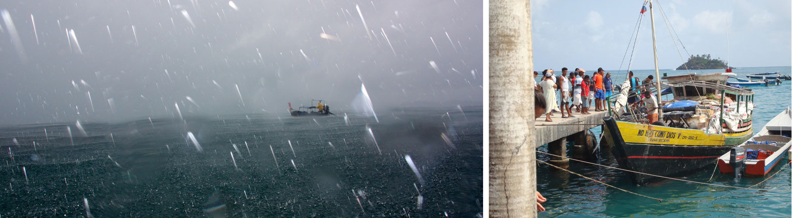 Unwetter auf See