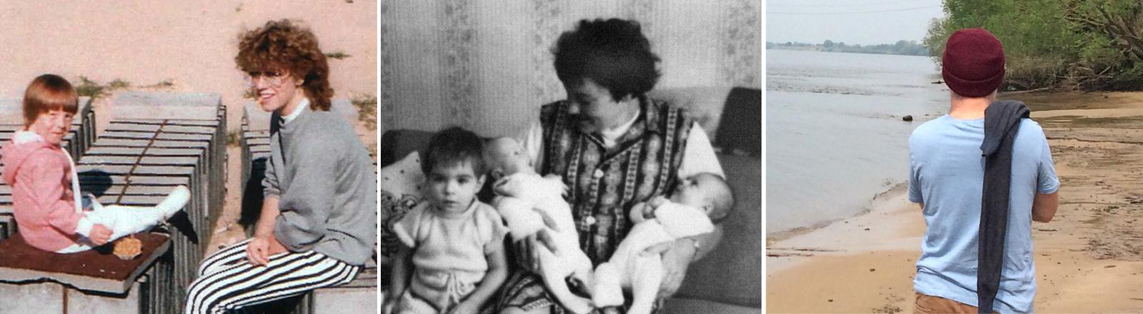 Marlene und Margot | Anita und ihre Kinder  |  Gregor am Flußufer
