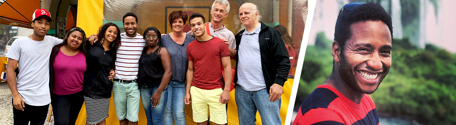 Collage mit Kilian und seiner Familie