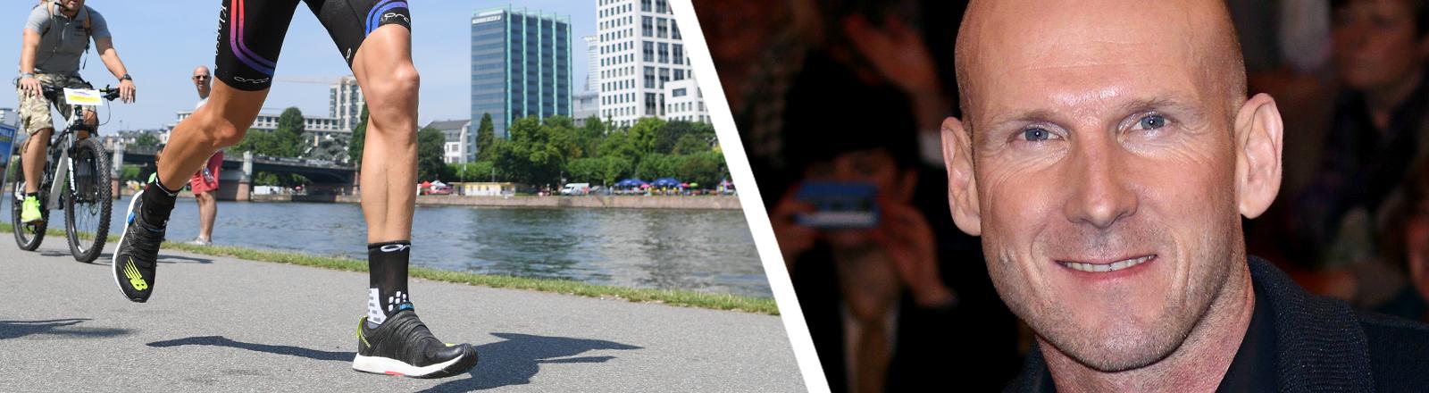 Collage: Ironman in Frankfurt | Triathlet Elmar Sprink