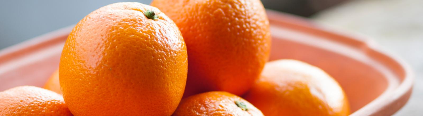 Schale mit Orangen