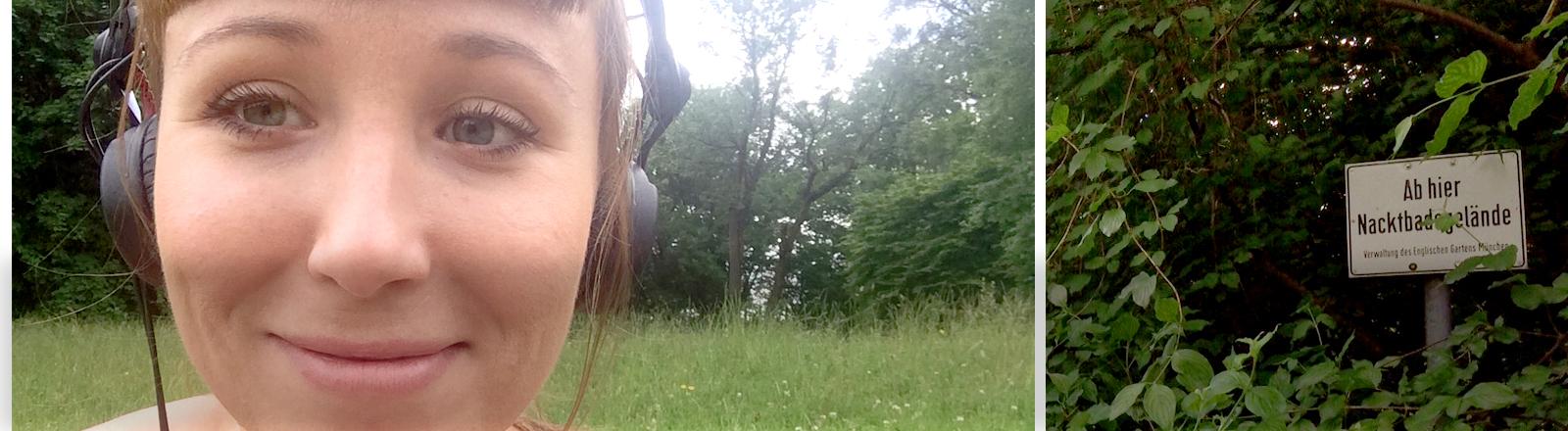 Elisabeth Veh auf der Nudistenwiese