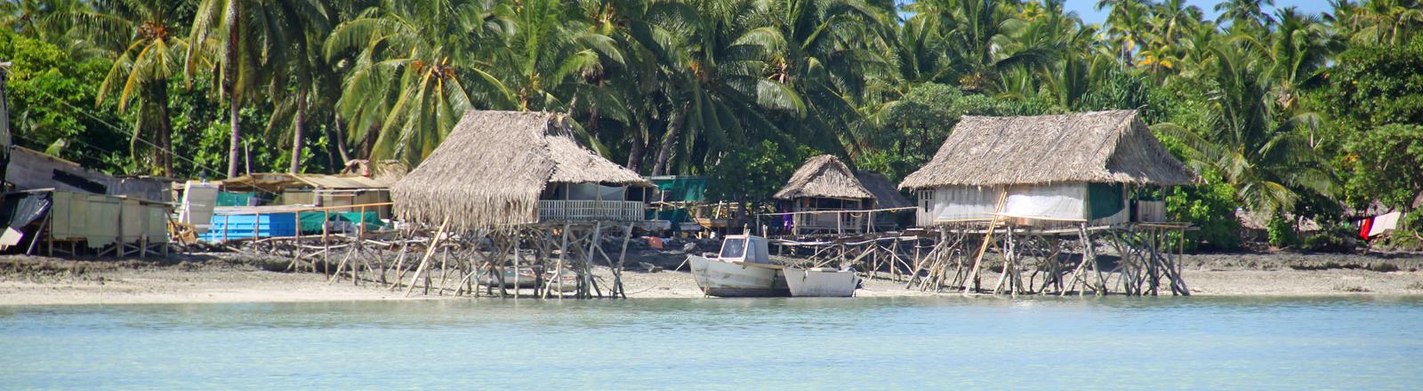 Pfahlbauten auf Kiribati
