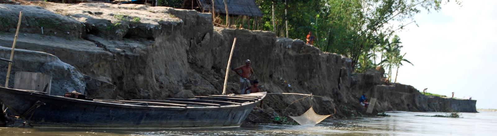 Von Monsum bedrohtes Dorf in Bangladesch.