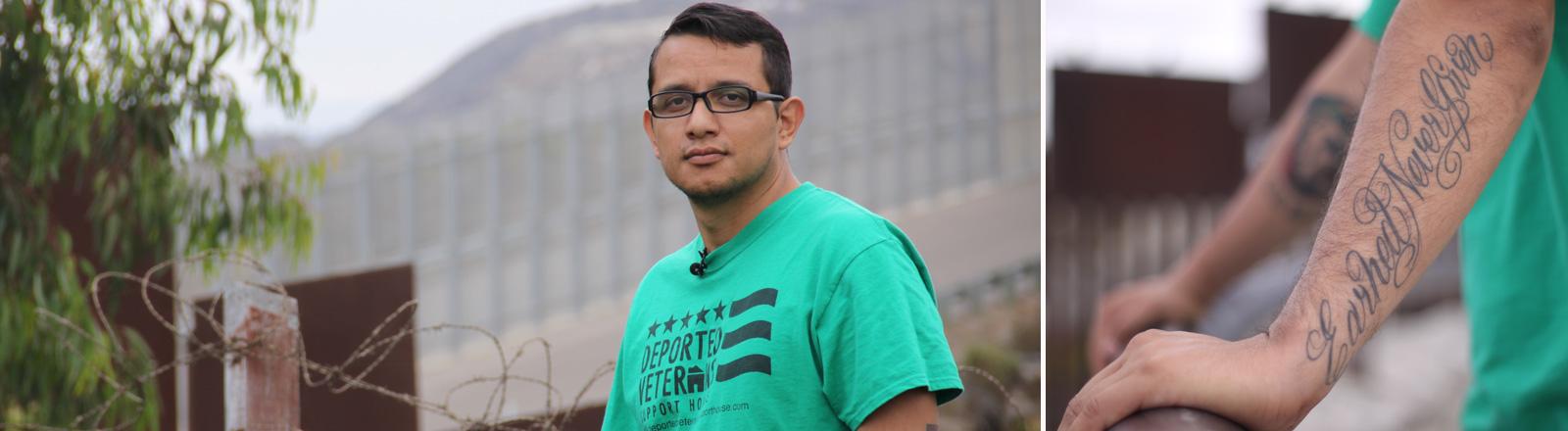 Der Mexikaner Daniel Torres, der als US-Veteran gedient hat, obwohl er illegal in den USA gelebt hat.