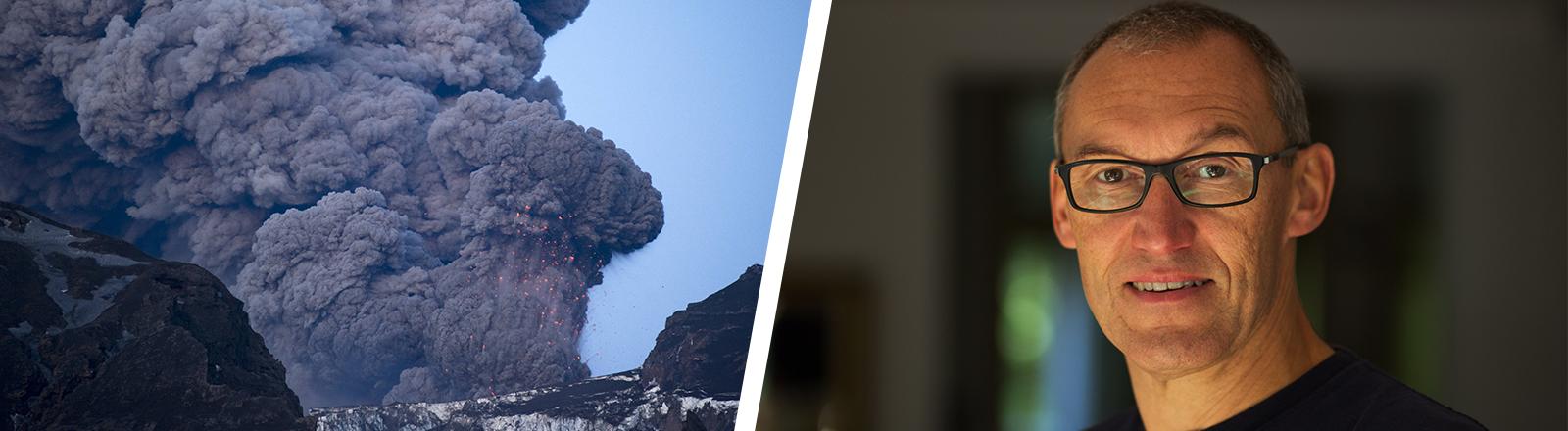 Der Vulkan Eyafjallajöküll und MAtthias Weber