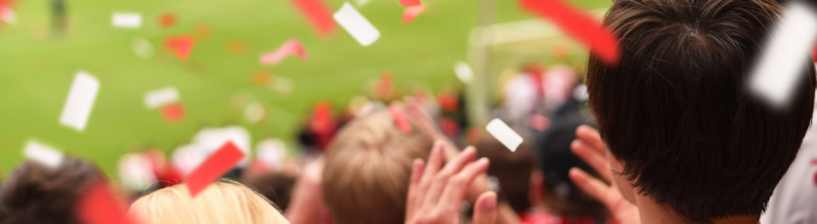 Ein Fußballspiel im Stadion von Bayern München.