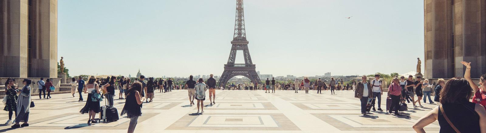 Der Eiffelturm in Paris.