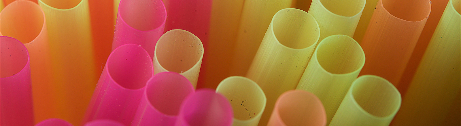 Trinkhalme aus Plastik
