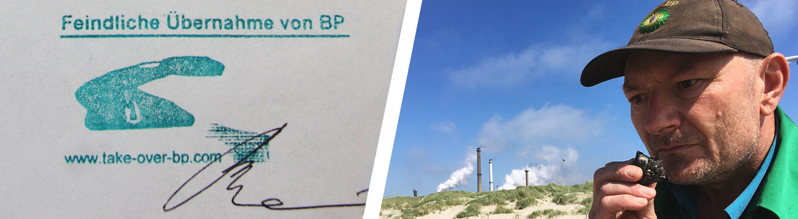 Collage: BP-Dokument und Ruppe Koselleck