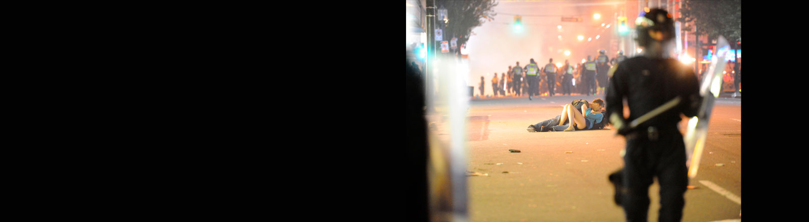 Vancouver Riot Kissing Couple