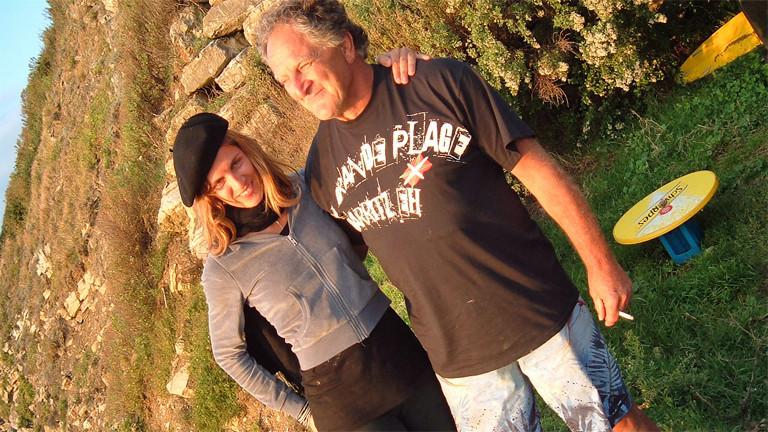 Jens Körner mit seiner Tochter Saskia in Frankreich.