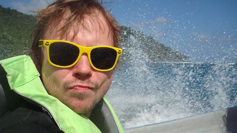 Markus in der Karibik