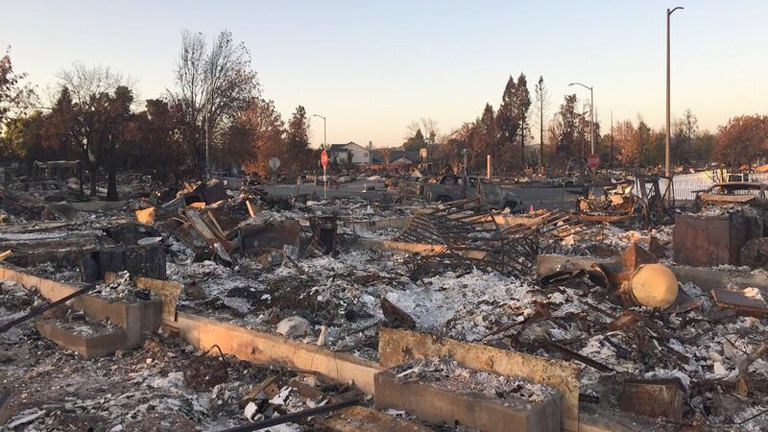 Trümmerreste von Pams Haus in Coffey Park, Kalifornien