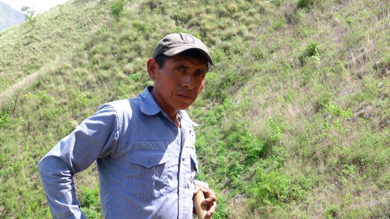 Ein Bauer in Guatemala