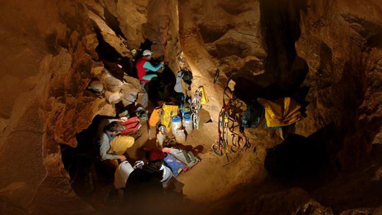 Johann Westhauser in der Höhle