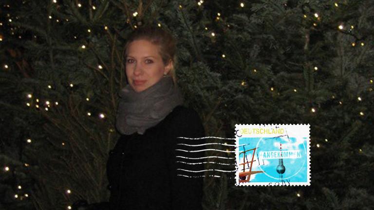 Anna Maari Routanen auf dem Weihnachtsmarkt in Köln.