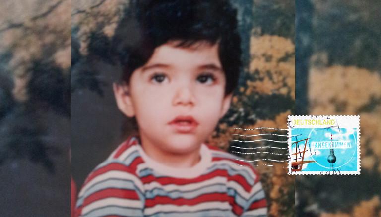 Keyvan als kleiner Junge im Jahr 1985