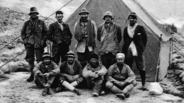Altes Foto von Expeditionsteam 1924