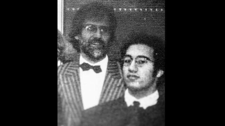 Nail Al Saidi und sein ehemaliger Lehrer Dieter.