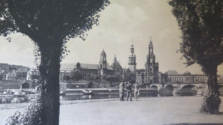 Ein Blick auf das alte Stadtpanorama von Dresden