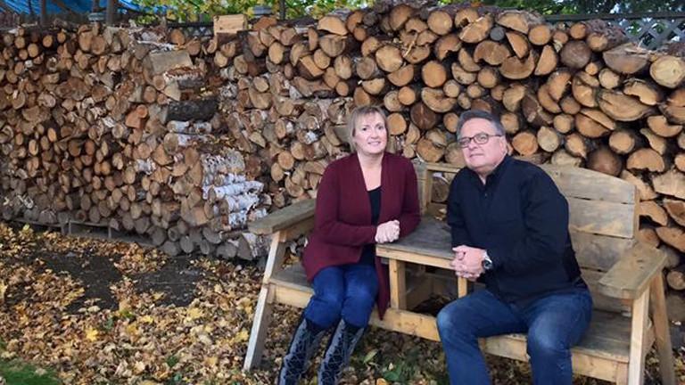 Ron und Ruth Mills in Gander