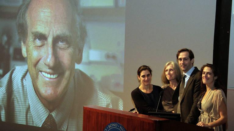 Ralph Steinmans Angehörige bei der Nobelpreisverleihung