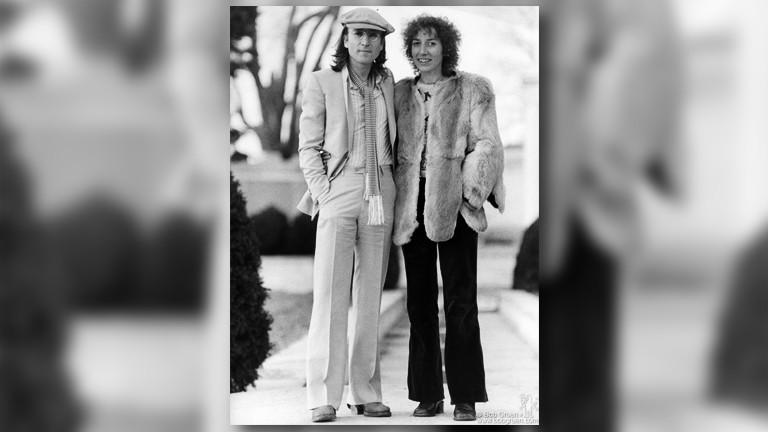John Lennon und Frances Schoenberger
