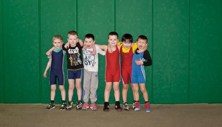Kinder in einem Sportverein