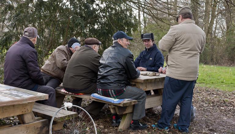 Russlanddeutsche Männer in Lahr