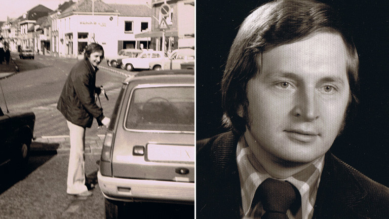 Mann an einem Auto und im Portrait
