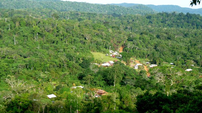 Das Dorf Saül in Französisch Guayana