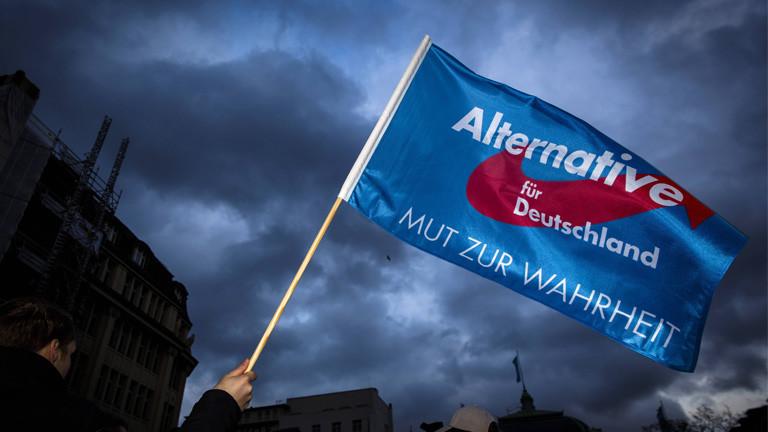 Flagge der Partei AfD