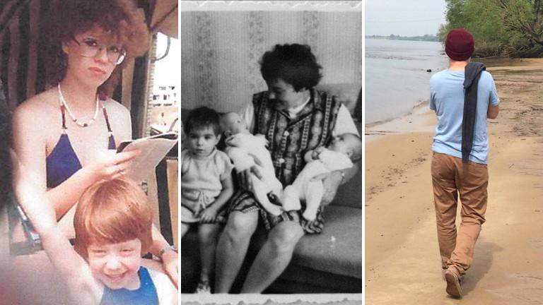 Bildmontage: Marlene und Margot  | Anita mit ihren Kindern  |  Gregor am Flußufer