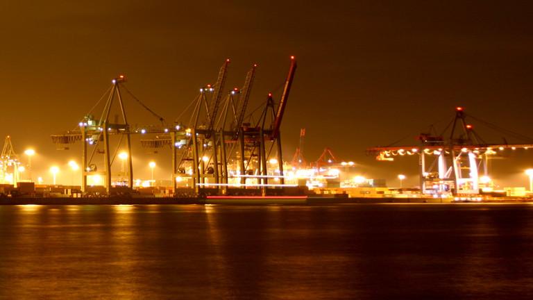 Der Hafen von Hamburg.