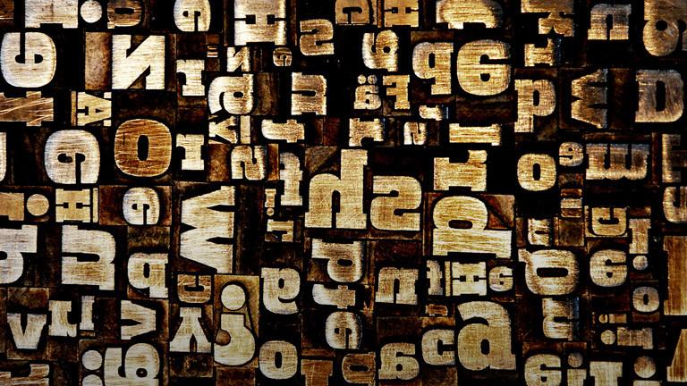 Eine Ansammlung verschiedener Buchstaben.