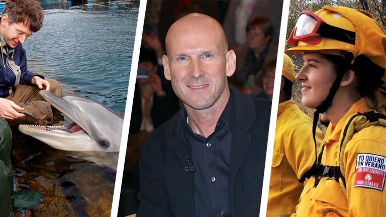 Jay Alabaster beim Walfüttern, Triathlet Elmar Sprink, Lilian Chamai in Costa Rica