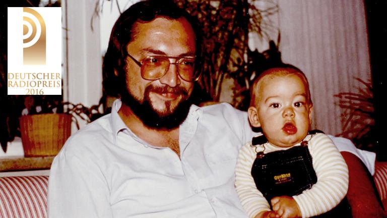 Dominik Schottner als Baby mit seinem Vater.