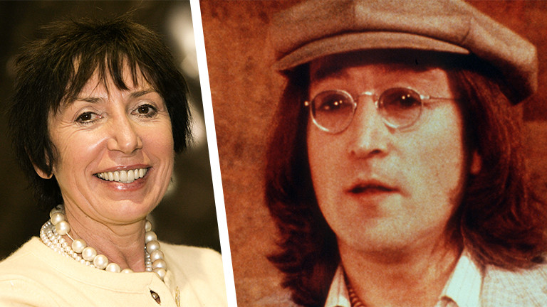 Frances Schoenberger und Beatles-Musiker John Lennon.