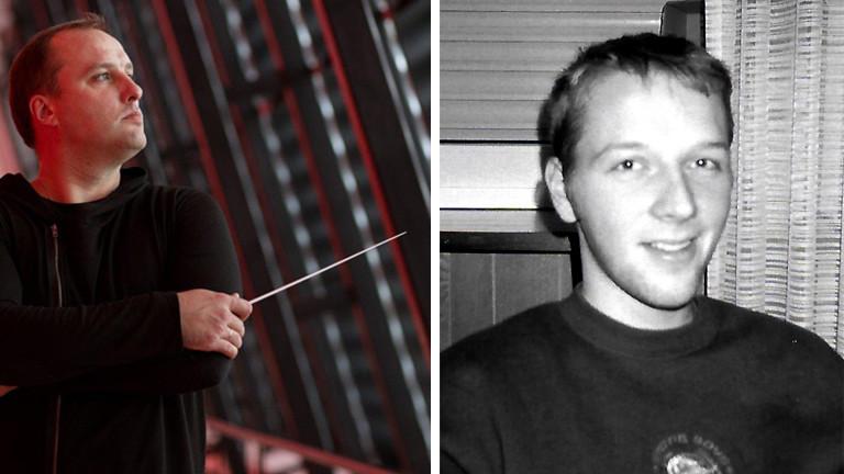 Der Dirigent Janis Stafeckis und Stephan Beuting