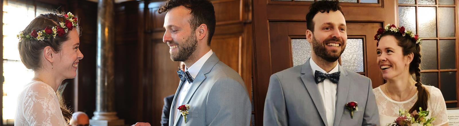 Nora und Christoph bei ihrer Hochzeit