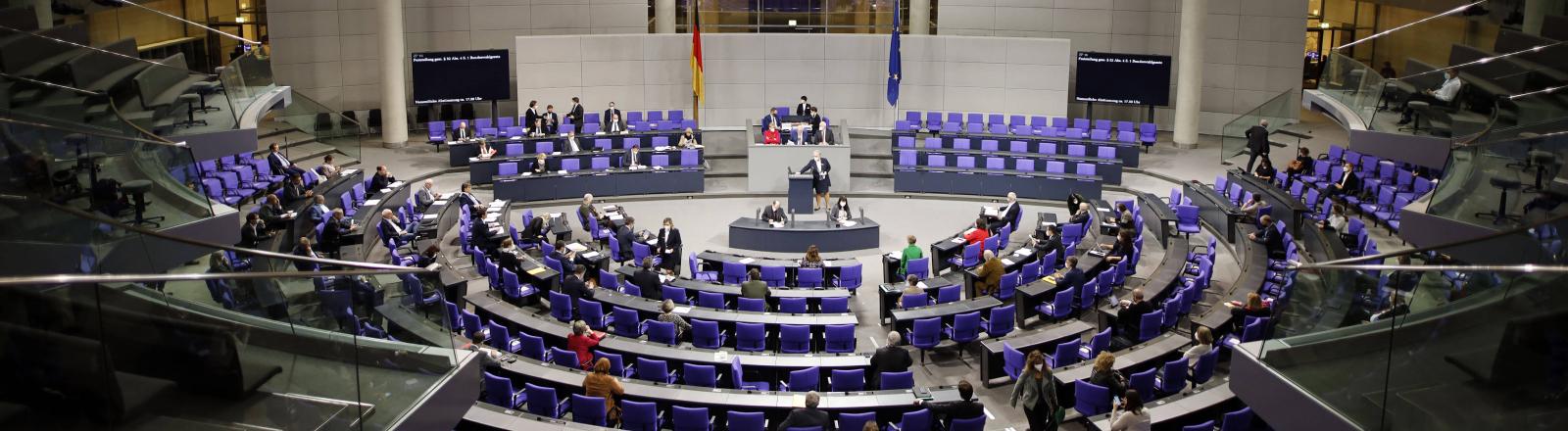 Das Plenum des deutschen Bundestags  im Januar 2021
