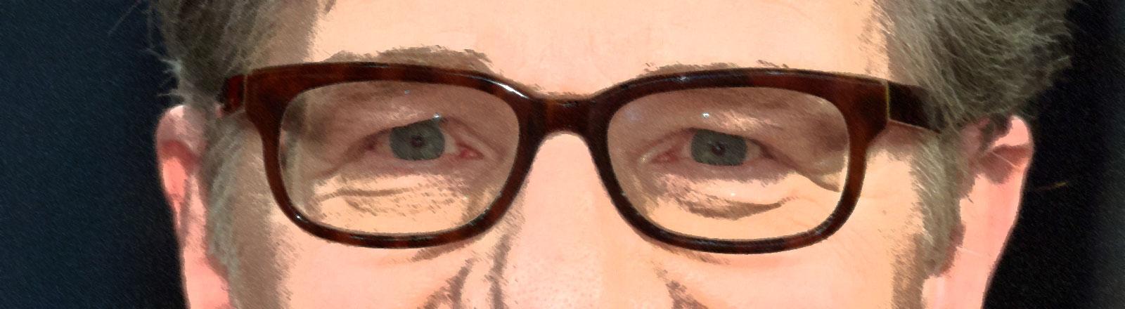 Die charakteristische Brille von Roger Willemsen hat hohen Wiedererkennungswert.