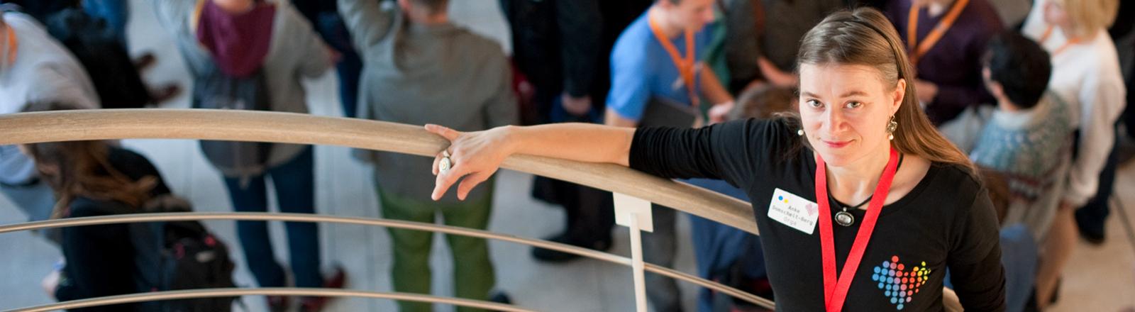 Die Aktivistin Anke Domscheit-Berg auf dem Refugee Hackathon.