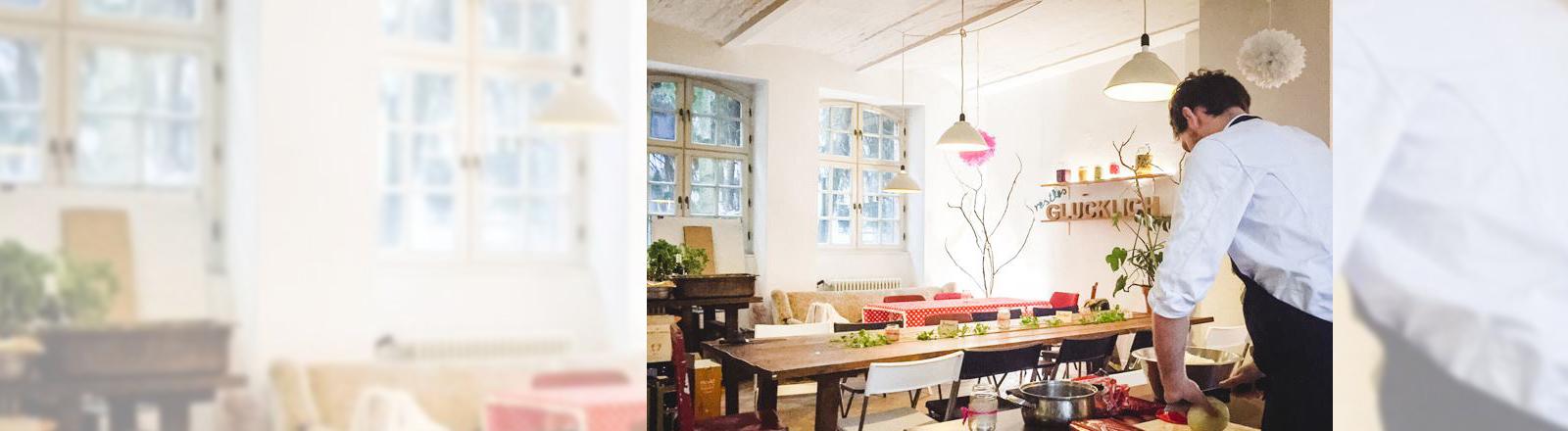 Das Restaurant Restlos glücklich in Berlin kocht aus Lebensmittelresten Menüs.