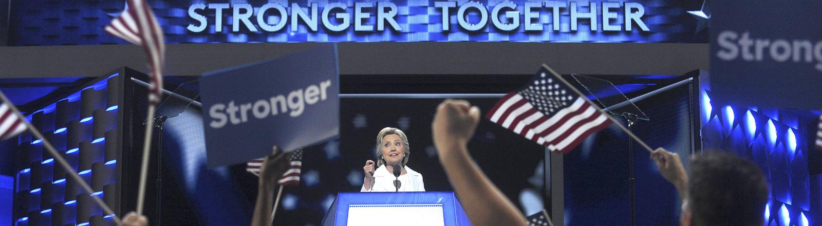 Hillary Clinton auf dem Parteitag der Demokraten in Philadelphia am 28.07.2016.