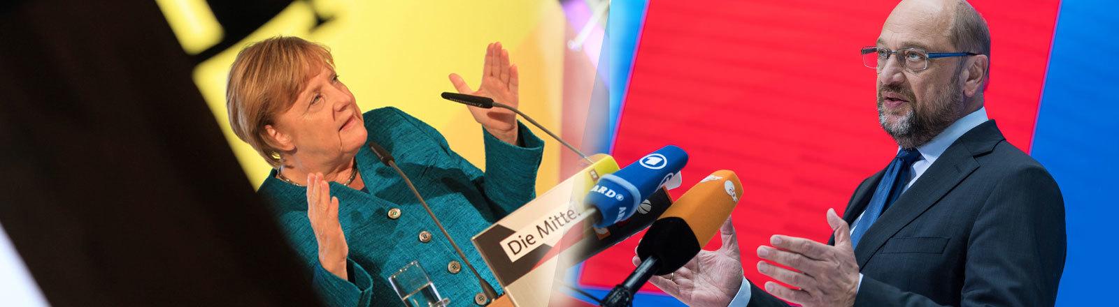 Angela Merkel Martin Schulz Kanzlerkandidaten