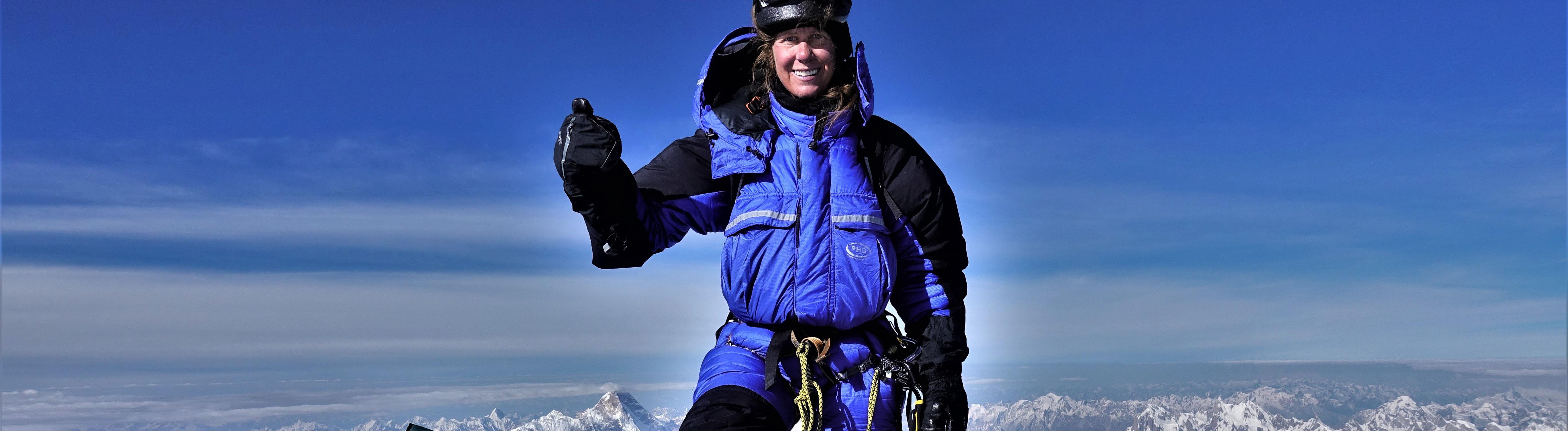 Anja Blacha auf dem Gipfel des K2