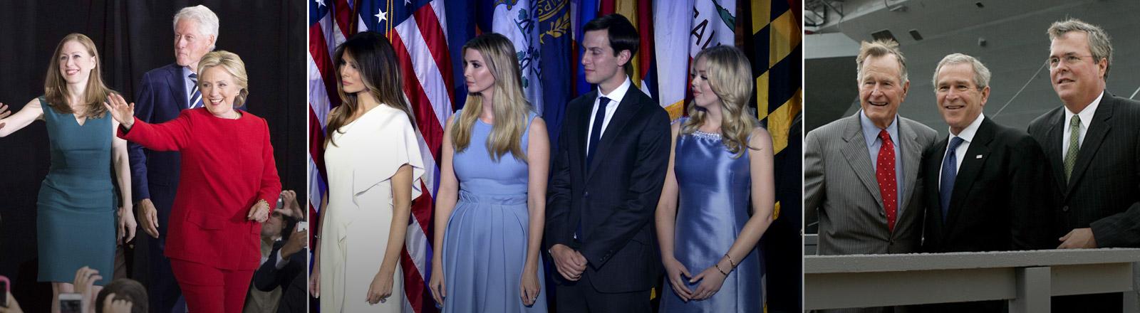 Familie Clinton, Familie Trump, Familie Bush